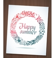 Happy summer wreath vector image