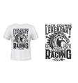 horse racing club t-shirt print template vector image vector image
