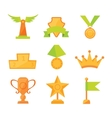 icons set of golden sport award cups in vector image