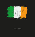 ireland colorful brush strokes painted national vector image vector image