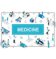 isometric healthcare concept vector image