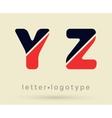 Letter logo font vector image vector image