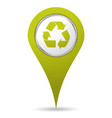 location recycling icon vector image