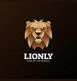 logo lion gradient colorful style vector image