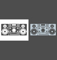loud music audio center system silhouette icon or vector image