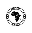 made in africa rubber stamp vector image vector image