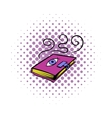 Magic book icon comics style vector image vector image