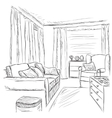 Modern interior room sketch Furniture elements vector image vector image