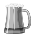 Mug of beer icon gray monochrome style vector image vector image