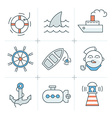 Nautical Icons Collection vector image