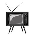 old tv set template vector image vector image