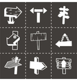 old wood sign icon set vector image
