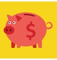 Pink piggy bank vector image vector image