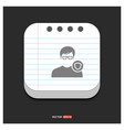 protected user icon gray icon on notepad style vector image