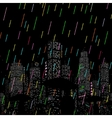 rain in city background vector image vector image