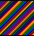 rainbow pattern seamless line for design print vector image vector image