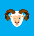 ram winking face avatar sheep farm animal happy vector image vector image
