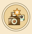 retro cameras design vector image