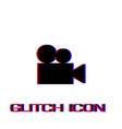retro cinema icon flat vector image vector image