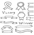 ribbon in hand drawn style vector image vector image