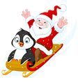 Santa Claus and Penguin vector image vector image