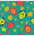 Seamless pattern with flat travel icons vector image vector image