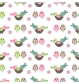 Seamless pretty pattern with stylized birds and vector image