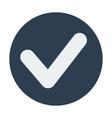 Single check mark icon Flat design vector image vector image