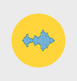 sound wave music icon vector image