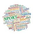 Sports tag cloud vector image vector image