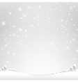 Star night and snow fall bakcground 003 vector image vector image