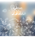 Stylish Save the Date card made of elegant flowers vector image vector image