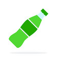 sweet green beverage in a plastic bottle flat vector image
