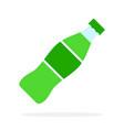 sweet green beverage in a plastic bottle flat vector image