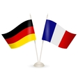 Table stand with flags of Germany and France vector image vector image