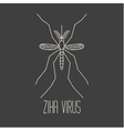 The yellow fever mosquito vector image