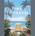 time to travel summer holidays vacation seascape vector image vector image