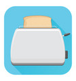 toaster flat design blue square icon vector image vector image