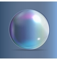Transparent Bubbles on Dark Blue Background vector image vector image