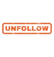 Unfollow Rubber Stamp vector image vector image