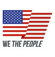 usa we the people logo icon flat style vector image vector image