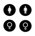 Wc entrance black icons set vector image vector image