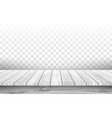 wooden gray table top with aged surface realistic vector image vector image