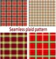 Seamles plaid vector image
