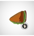 Tasty and juicy sandwich on a light design vector image