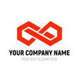 abstract infinite block logo design template vector image