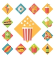 Fast food icons set for menu cafe and vector image