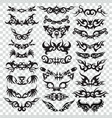 tribal tattoo set design element vector image