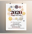 2020 new year party flyer poster template in vector image vector image