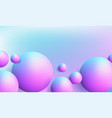 abstract background with dreamy glossy sphere vector image vector image